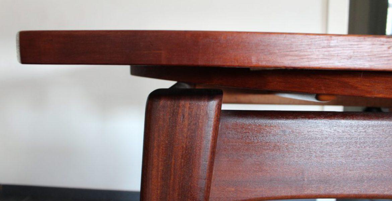 Retro Tafel Rond : Webe louis van teeffelen eettafel rond teak u2013 tezz vintage