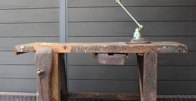 Industriele Werkbank Sidetable.Industriele Werkbank Vintage Sidetable Eiken Tezz Vintage